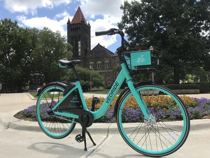 VeoRide bike on campus